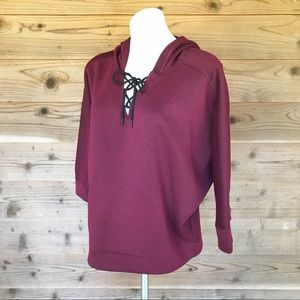 Avia Lace Up Lightweight Hoodie Sweatshirt Sz XL